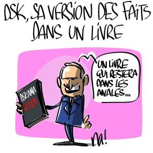 Nactualités : DSK, sa version des faits dans un livre