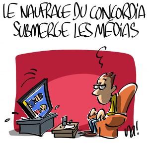 Nactualités : le naufrage du Concordia submerge les médias