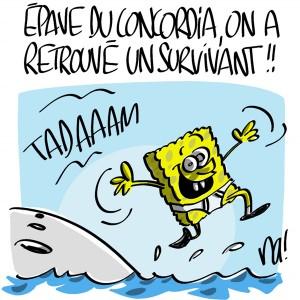 Nactualités : épave du Concordia, on a retrouvé un survivant !
