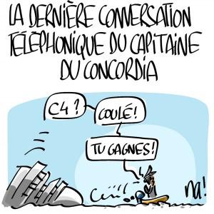 Nactualités : la dernière conversation téléphonique du capitaine du Concordia