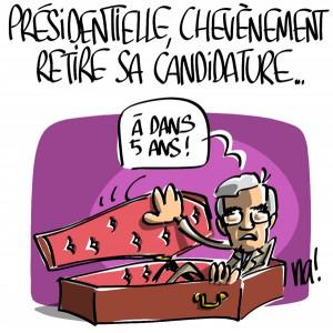 Nactualités : présidentielle, Jean-Pierre Chevènement retire sa candidature