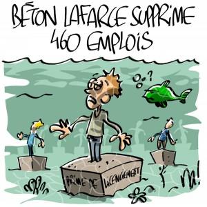 Nactualités : Béton Lafarge supprime 460 emplois