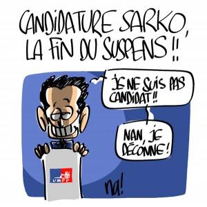 Nactualités : candidature Nicolas Sarkozy, la fin du suspens !