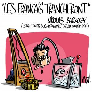Nactualités : «les Français trancheront» Nicolas Sarkozy (extrait du discours d'annonce de sa candidature)