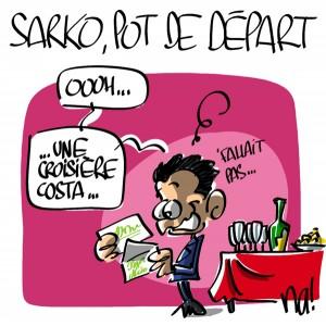 Nactualités : le pot de départ de Nicolas Sarkozy