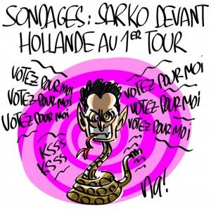 Nactualités : sondages, Sarkozy devant Hollande au 1er tour
