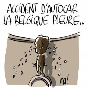Nactualités : accident d'autocar, la Belgique pleure…