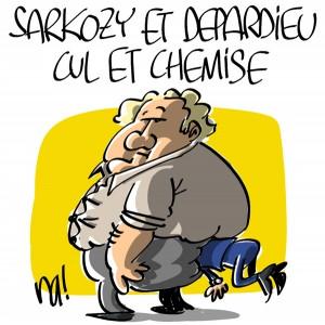 Nactualités : Sarkozy et Depardieu, cul et chemise
