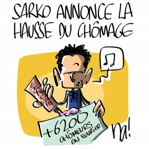 Nactualités : Nicolas Sarkozy annonce la hausse du chômage