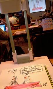 Intervention de dessin live