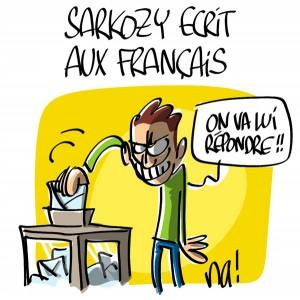 Nactualités : Nicolas Sarkozy écrit aux Français