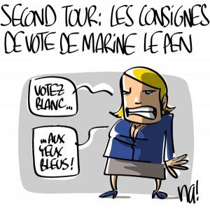 Nactualités : second tour, les consignes de vote de Marine Le Pen