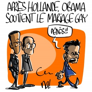 Nactualités : après Hollande, Obama soutient le mariage gay