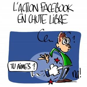 Nactualités : l'action facebook en chute libre