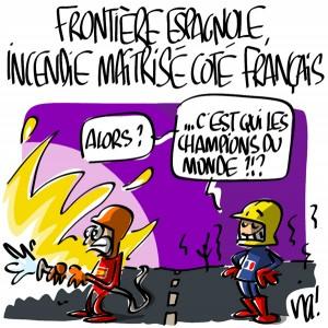 Nactualités : frontière espagnole, incendie maîtrisé côté français