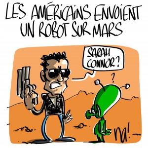 Nactualités : les Américains envoient un robot sur Mars