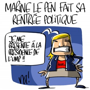 Nactualités : Marine Le Pen fait sa rentrée politique