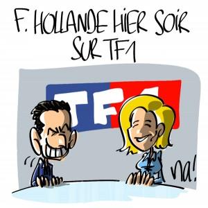 Nactualités : François Hollande hier soir sur TF1