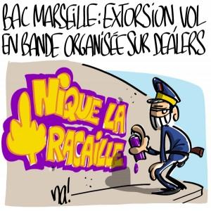 Nactualités : BAC Marseille Nord, extorsion et vol en bande organisée sur dealers
