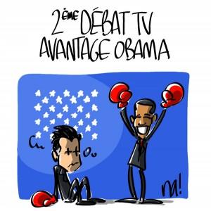 Nactualités : 2ème débat TV, avantage Obama