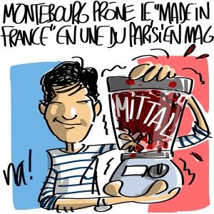 Nactualités : Arnaud Montebourg prône le «made in France» en Une du Parisien Magazine