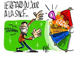 Nactualités : le retard du jour à la SNCF