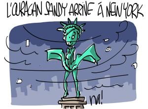 Nactualités : l'ouragan Sandy arrive à New-York