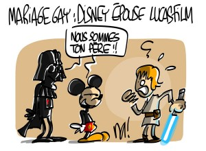 Nactualités : mariage gay, Disney épouse Lucasfilm