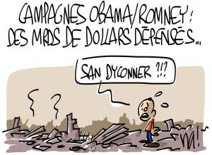 Nactualités : campagnes Obama/Romney, des milliards de dollars dépensés…
