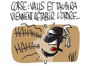 Nactualités : Corse, Manuel Valls et Christiane Taubira viennent rétablir l'ordre