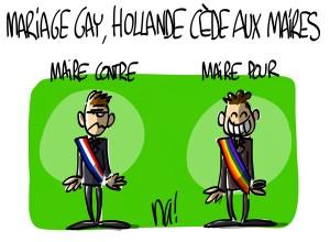 Nactualités : mariage pour tous, Hollande cède aux Maires