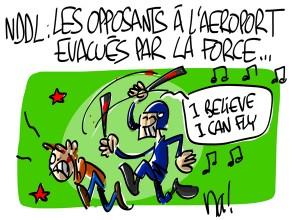 Nactualités : les opposants au projet d'aéroport de Notre Dame Des Landes évacués par la force