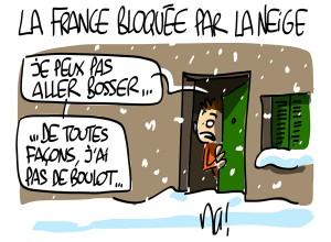 Nactualités : la France bloquée par la neige