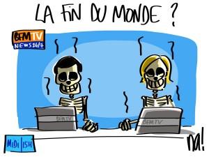 Nactualités : la fin du monde sur BFMTV