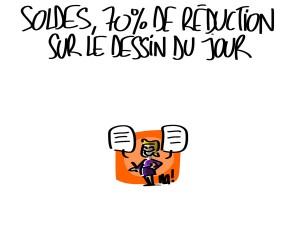 Nactualités : soldes, 70% de réduction sur le dessin du jour