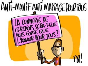 Nactualités : anti-manif anti mariage pour tous