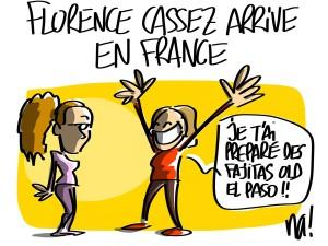 Nactualités : Florence Cassez arrive en France