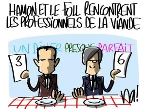 Nactualités : Benoit Hamon et Stephane Le Foll rencontrent les professionnels de la viande