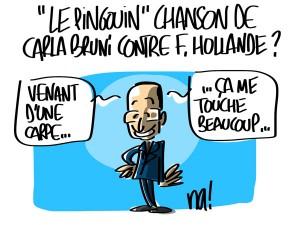 Nactualités : «le pingouin» chanson de Carla Bruni contre François Hollande ?