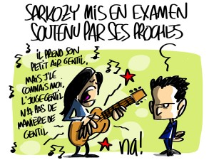 Nactualités : Sarkozy mis en examen soutenu par ses proches