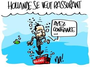 Nactualités : Hollande se veut rassurant