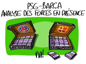 Nactualités : PSG – Barça, analyse des forces en présence