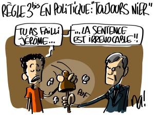 Nactualités : règle n°3bis en politique : «toujours nier»