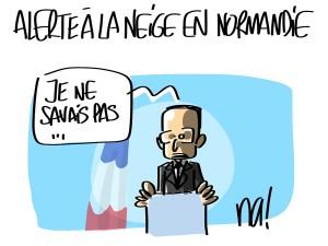 Nactualités : alerte à la neige en Normandie