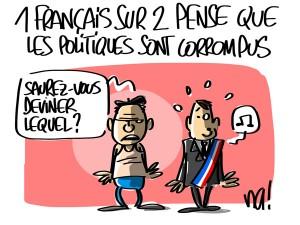 Nactualités : 1 Français sur 2 pense que les politiques sont corrompus