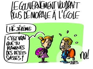 Nactualités : le gouvernement voudrait plus de morale à l'école