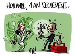 Nactualités : Hollande, 1 an seulement…