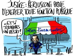 Nactualités : justice, Berlusconi privé d'exercer toute fonction publique