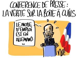 Nactualités : conférence de presse, la vérité sur la boîte à outils de François Hollande