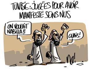 Nactualités : Tunisie, jugées pour avoir manifesté seins nus